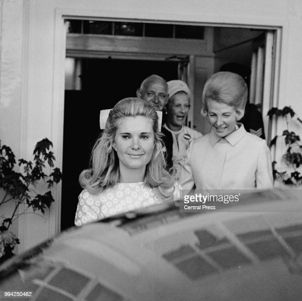 Patricia Nixon later Tricia Nixon Cox daughter of US President Richard Nixon arrives at Wimbledon in London to watch the Lawn Tennis Championships...