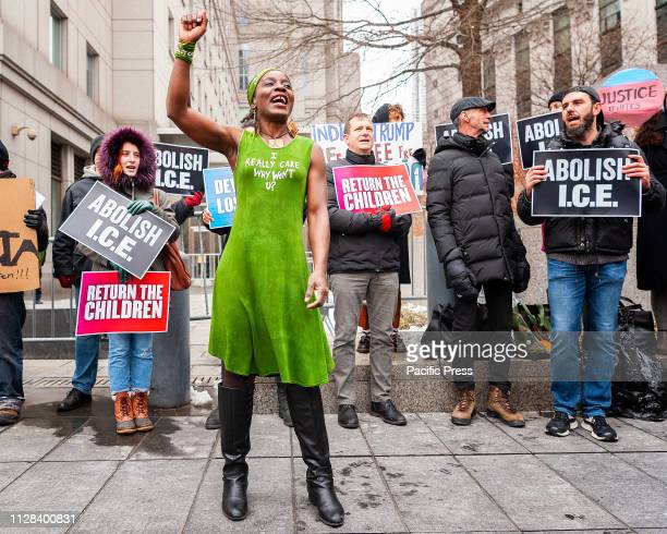 Patricia Okoumou the woman who climbed the Statue of Liberty in protest of the Trump administration's immigration policy today appeared in court...