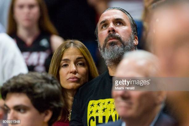 Patricia Oliver and her husband Manuel parents of Joaquin Oliver a 17yearold killed in the Marjory Stoneman Douglas High School shooting attend as...