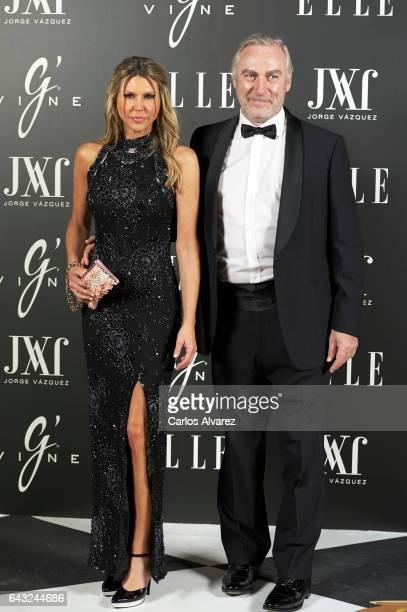 Patricia Olmedilla and Gonzalo de la Cierva attend Elle Jorge Vazquez party at the Principe Pio Theater on February 20 2017 in Madrid Spain