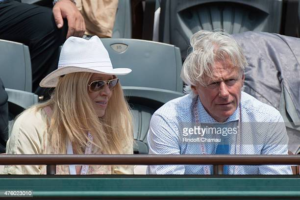 Patricia Ostfeldt and Bjorn Borg attend the French Open at Roland Garros on June 5 2015 in Paris France