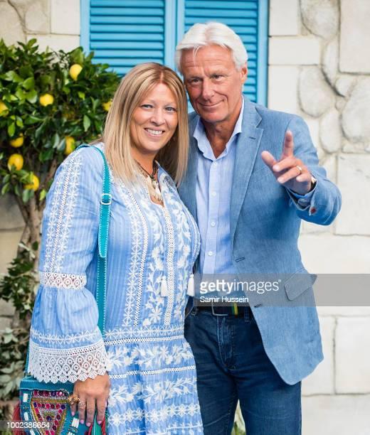 Patricia Ostfeldt and Bjorn Borg attend the UK Premiere of Mamma Mia Here We Go Again at Eventim Apollo on July 16 2018 in London England
