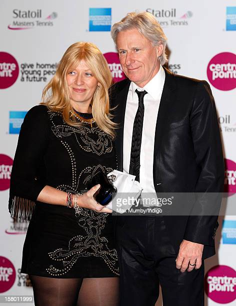 Patricia Ostfeldt and Bjorn Borg attend the Winter Whites Gala in aid of homeless charity Centrepoint at The Royal Albert Hall on December 08 2012 in...