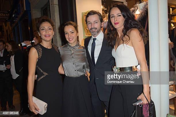 Patricia Perez Amelia Bono Manuel Martos and Monica Estarreado attend the 'Dolores Promesas' Opening Store in Paris on October 31 2014 in Paris France