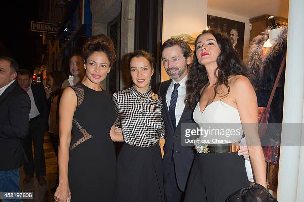 Patricia Perez Amelia Bono Manuel Martos and Monica Esterreado attend the 'Dolores Promesas' Opening Store in Paris on October 31 2014 in Paris France