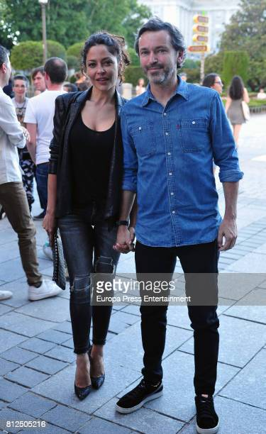 Patricia Perez and Luis Canut arrive at the Pet Shop Boys Universal Music Festival concert at The Royal Theatre on July 10 2017 in Madrid Spain
