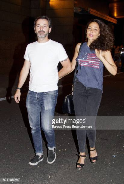 Patricia Perez and Luis Canut attend Alejandro Sanz's concert 'Mas' at Vicente Calderon stadium on June 24 2017 in Madrid Spain