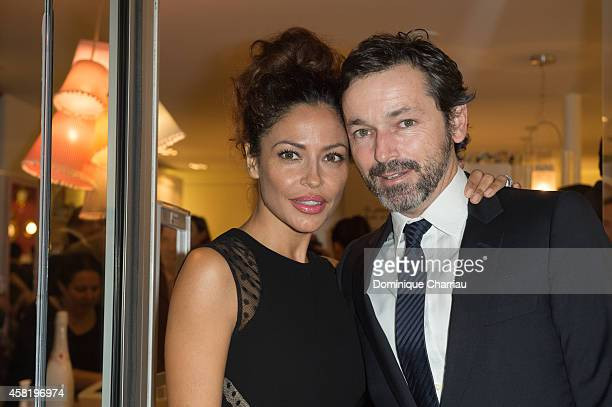 Patricia Perez and Luis Canut attend the 'Dolores Promesas' Opening Store in Paris on October 31 2014 in Paris France