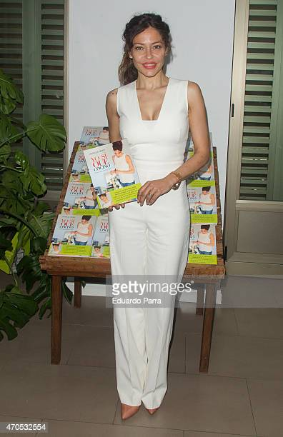 Patricia Perez attends Patricia Perez's new book 'Yo si que cocino' press conference at Navarro herbalist on April 21 2015 in Madrid Spain