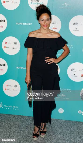 Patricia Perez attends the David Bisbal concert photocall at Royal Theatre on July 26 2017 in Madrid Spain