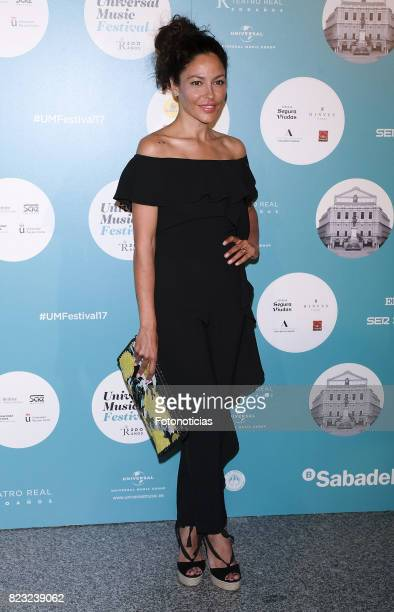 Patricia Perez attends the David Bisbal Universal Music Festival concert at The Royal Theater on July 26 2017 in Madrid Spain