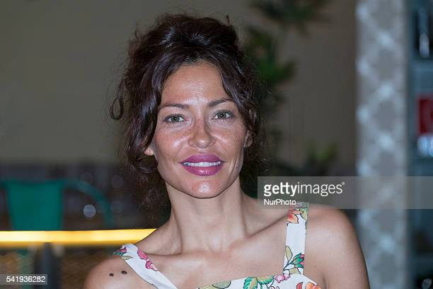 Patricia Perez, attends the presentation of Jerte cherry juice for this summer in Madrid, on June 21, 2016.