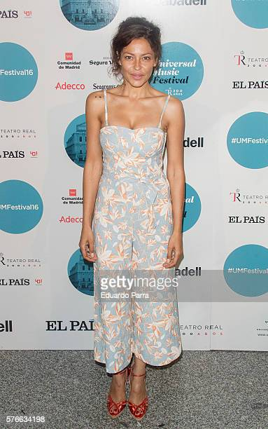 Patricia Perez attends the Rufus Wainwright concert photocall at Royal Theatre on July 16 2016 in Madrid Spain