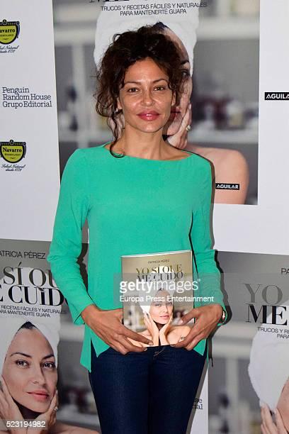 Patricia Perez presents her book 'Yo si que me cuido' on April 21 2016 in Madrid Spain