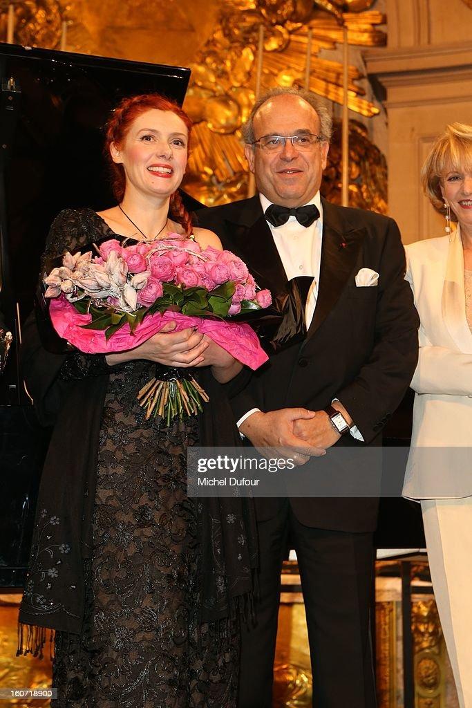 Patricia Petitbon and David Khayat attend the David Khayat Association 'AVEC' Gala Dinner at Chateau de Versailles on February 4, 2013 in Versailles, France.