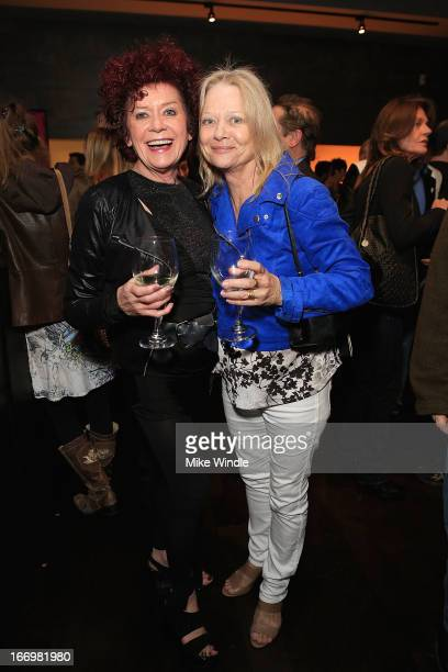 Patricia Quinn and Judy Geeson attend the fan screening of Anchor Bay Films' Rob Zombie's The Lords Of Salem after party on April 18 2013 in Burbank...