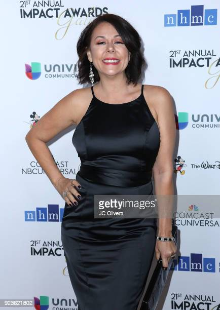 Patricia Rae attends the 21st Annual National Hispanic Media Coalition Impact Awards Gala at Regent Beverly Wilshire Hotel on February 23 2018 in...