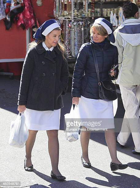 Patricia Rato and Cristina Yanes are seen on October 12 2013 in Lourdes France