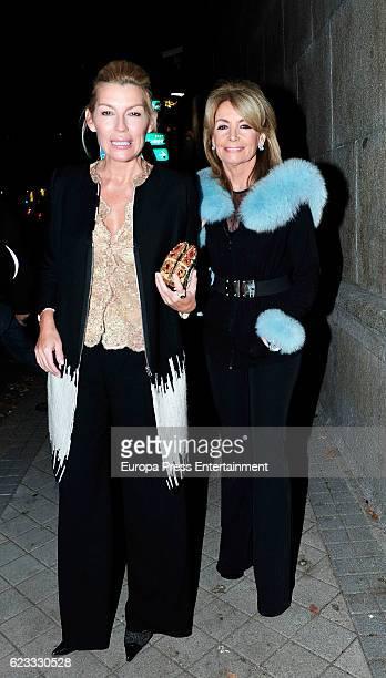 Patricia Rato and Cristina Yanes attend the tribute to designer Carolina Herrera at USA Embassy on November 14 2016 in Madrid Spain