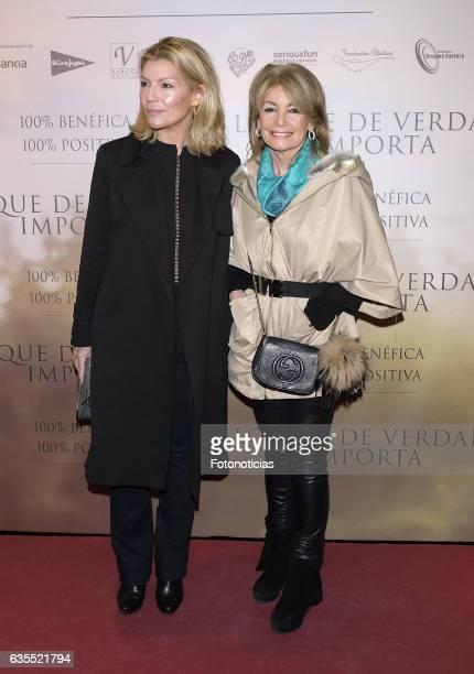 Patricia Rato and Cristina Yanes attends the 'Lo Que De Verdad Importa' premiere at the Hotel Vincci Capitol on February 15 2017 in Madrid Spain