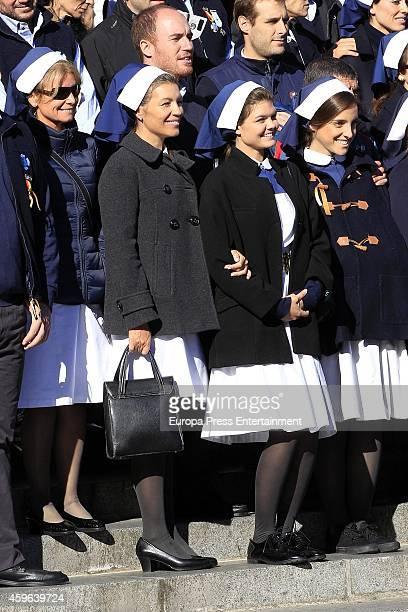 Patricia Rato Cristina Yanes and Alejandra Ruiz are seen on October 14 2014 in Lourdes France