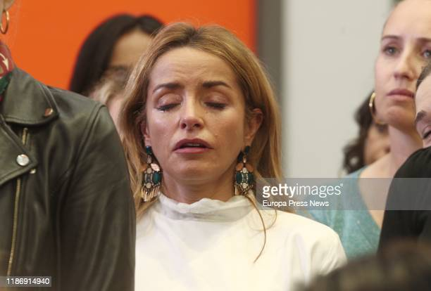 Patricia Reyes head of Women and LGTBI of Ciudadanos and 4th secretary of the Congress Bureau reacts as president of Ciudadanos Albert Rivera...