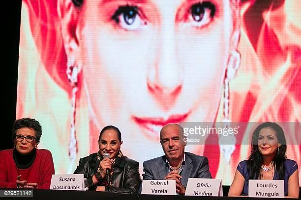 Patricia Reyes Spindola Susana Dosamantes Gabriel Varela and Lourdes Munguia participate in the press conference of the new play 'Hijas de su Madre'...
