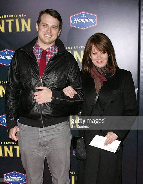 Patricia Richardson and son attend the The Adventures of TinTin New York premiere at the Ziegfeld Theatre on December 11 2011 in New York City