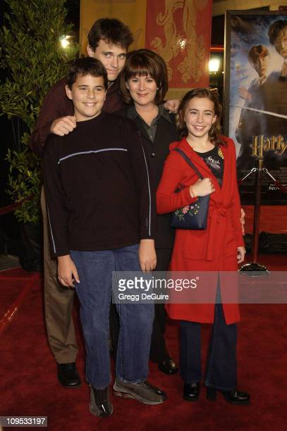 Patricia Richardson kids during Harry Potter and the Chamber of Secrets Premiere Los Angeles Arrivals at Mann Village Theatre in Westwood California...