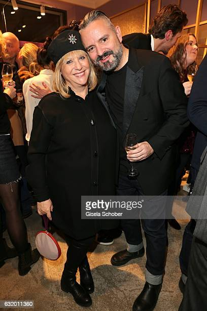 Patricia Riekel and Adrian Runhof during the Talbot Runhof boutique opening at Schlueterstrasse on January 18 2017 in Berlin Germany