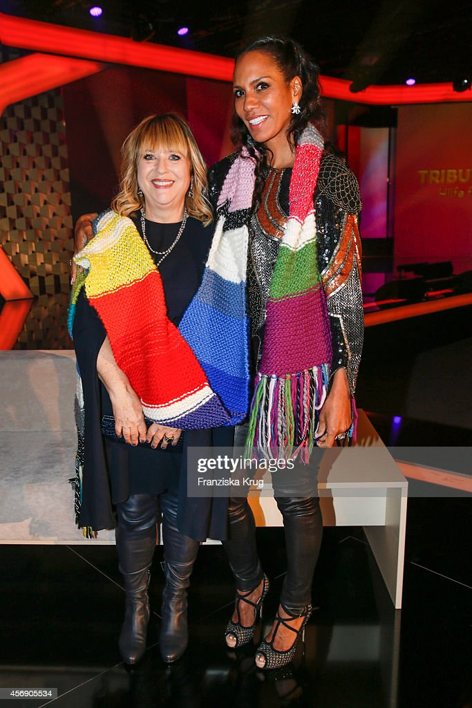 Patricia Riekel and Barbara Becker attend the Tribute To Bambi 2014 party on September 25, 2014 in Berlin, Germany.