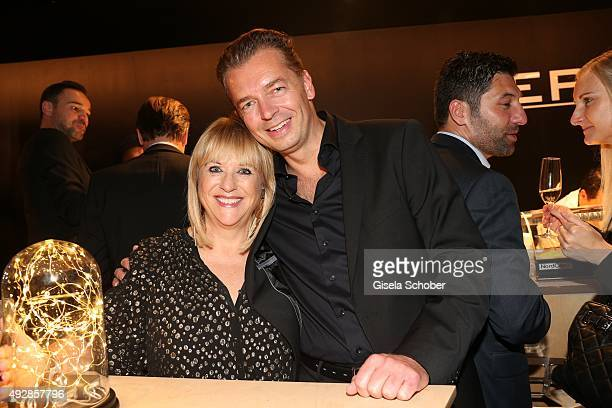 Patricia Riekel and Christian Lengling Louis Widmer during the Tribute to Bambi 2015 after show party at Station on October 15 2015 in Berlin Germany