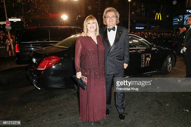 Patricia Riekel and Helmut Markwort arrive at the Bambi Awards 2014 on November 13 2014 in Berlin Germany