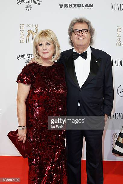 Patricia Riekel and Helmut Markwort arrive at the Bambi Awards 2016 at Stage Theater on November 17 2016 in Berlin Germany