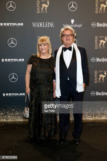 Patricia Riekel and Helmut Markwort arrive at the Bambi Awards 2017 at Stage Theater on November 16 2017 in Berlin Germany