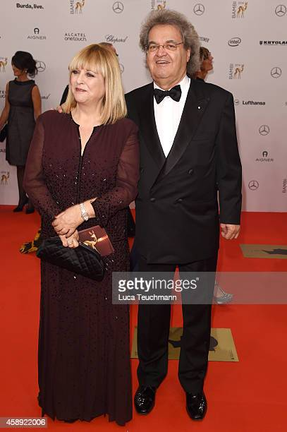 Patricia Riekel and Helmut Markwort attend Kryolan at the Bambi Awards 2014 on November 13 2014 in Berlin Germany