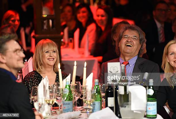 Patricia Riekel and Helmut Markwort attend 'Radio Gong 963 Celebrates 30th Anniversary' at Schuhbecks Teatro on January 28 2015 in Munich Germany