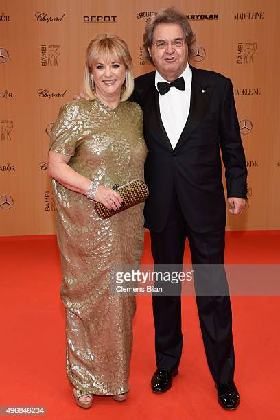Patricia Riekel and Helmut Markwort attend the Bambi Awards 2015 at Stage Theater on November 12 2015 in Berlin Germany