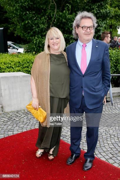 Patricia Riekel and Helmut Markwort attend the Bayerischer Fernsehpreis 2017 at Prinzregententheater on May 19 2017 in Munich Germany