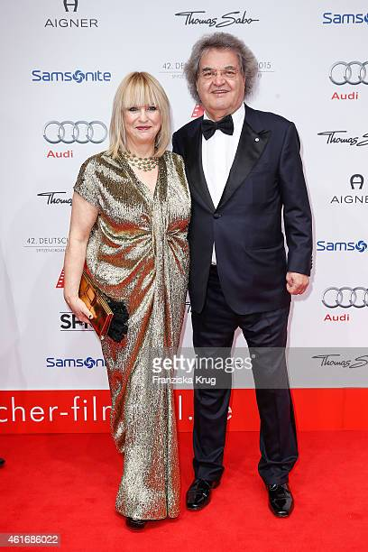 Patricia Riekel and Helmut Markwort attend the German Film Ball 2015 on January 17 2015 in Munich Germany