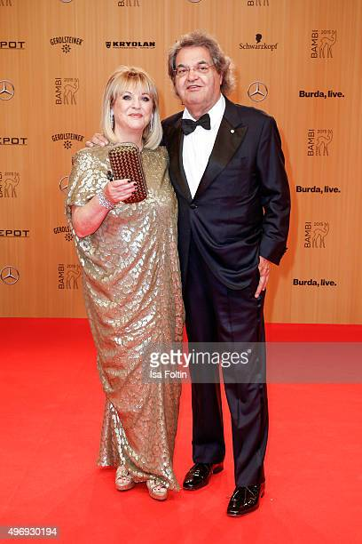 Patricia Riekel and Helmut Markwort attend the Kryolan At Bambi Awards 2015 Red Carpet Arrivals on November 12 2015 in Berlin Germany