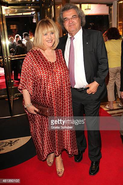 Patricia Riekel and Helmut Markwort attend the opening night of the Munich Film Festival Afterparty at Hotel Bayerischer Hof on June 27 2014 in...
