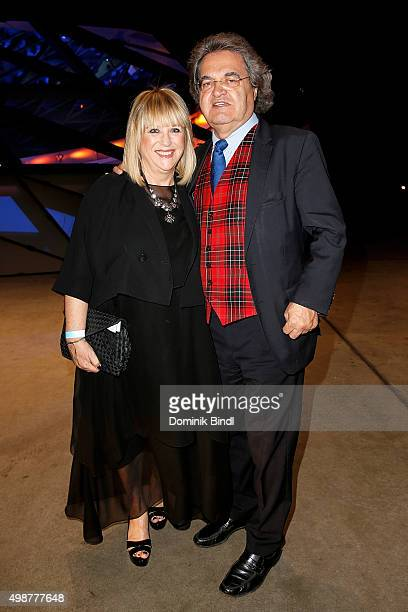 Patricia Riekel and Helmut Markwort attend the Querdenker Award 2015 at BMW World on November 25 2015 in Munich Germany