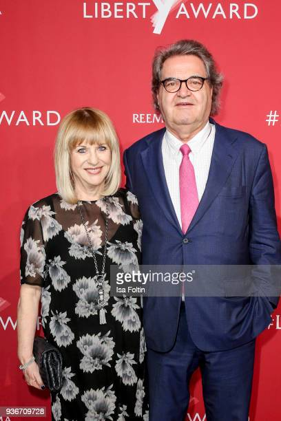 Patricia Riekel and Helmut Markwort attend the Reemtsma Liberty Award 2018 on March 22 2018 in Berlin Germany