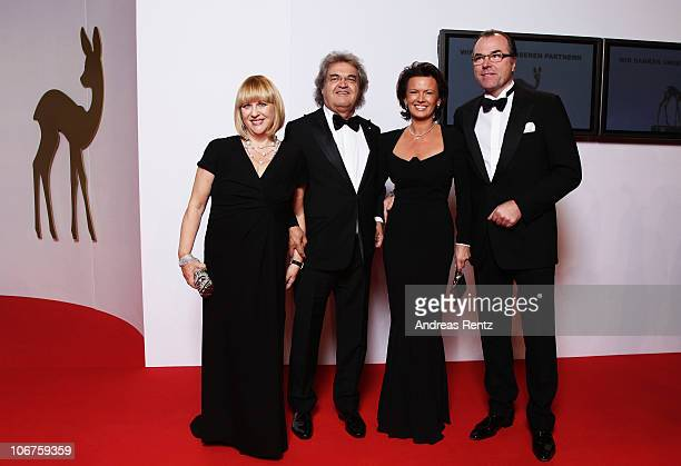 Patricia Riekel and Helmut Markwort, Clemens Toennies and his wife Margit Toennies arrive for the Bambi 2010 Award at Filmpark Babelsberg on November...
