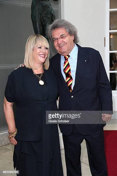Patricia Riekel and her partner Helmut Markwort during the 'Die Goldene Deutschland' Gala on July 26 2015 at Cuvillies Theater in Munich Germany