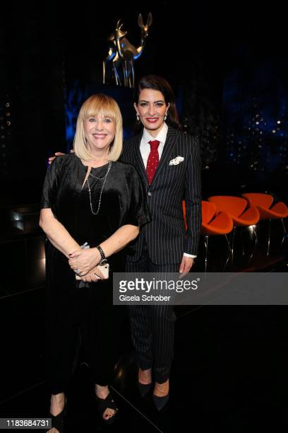 Patricia Riekel and Linda Zervakis during the Tribute To Bambi show at Casino BadenBaden on November 20 2019 in BadenBaden Germany