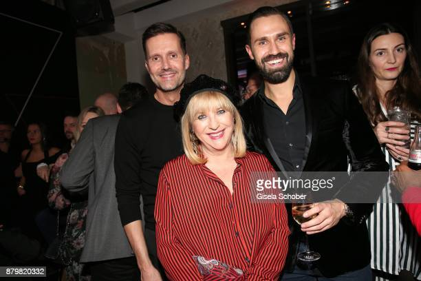 Patricia Riekel and Marco Stein and Daniel Funke during the New Faces Award Style 2017 at 'The Grand' hotel on November 15 2017 in Berlin Germany