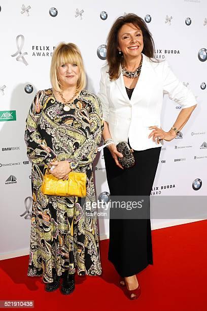 Patricia Riekel and Uschi Daemmrich von Luttitz attend the Felix Burda Award 2016 on April 17 2016 in Munich Germany