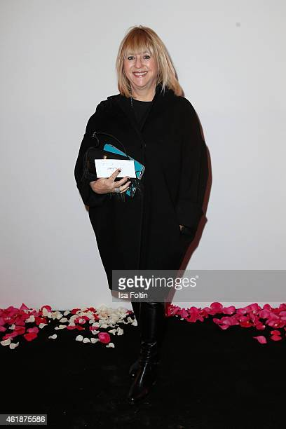 Patricia Riekel attends the Dorothee Schumacher show during the MercedesBenz Fashion Week Berlin Autumn/Winter 2015/16 at Villa Elisabeth on January...